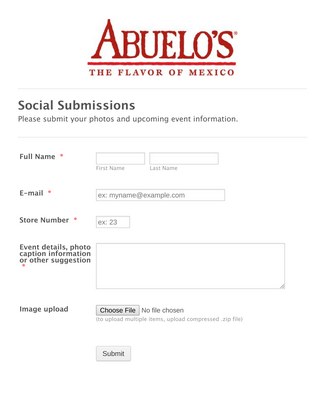Abuelo's Social Submissions