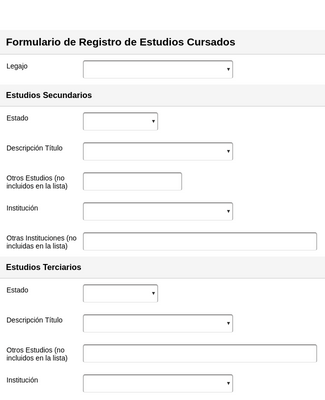 Educational Background Information Form