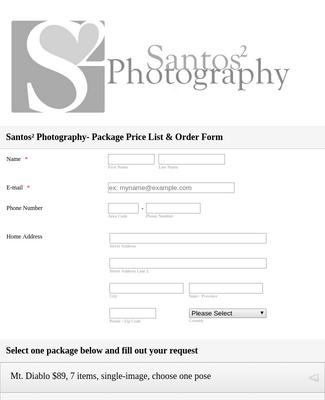 Photography Form Pdf Templates