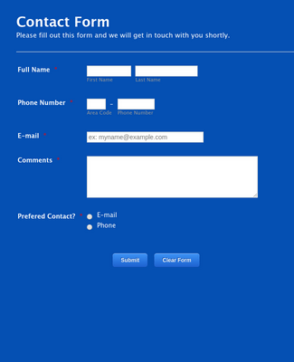 Easy Contact Form