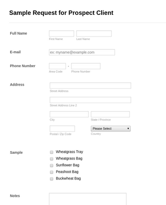 Sample Request for Prospect Client