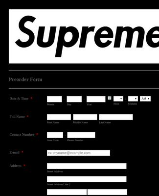 Pre-Order Form
