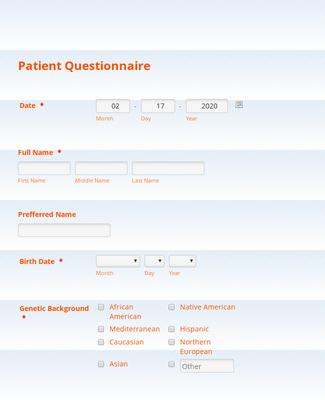 Alternative Medicine Patient Intake Form