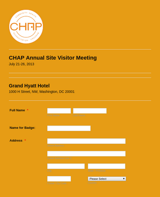 Visitor Meeting Form