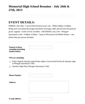 Reunion Registration Form 2