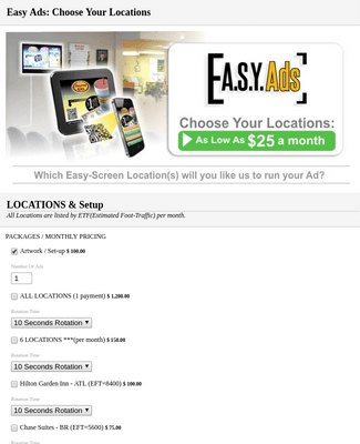 Easy Ads: Choose Your Locations