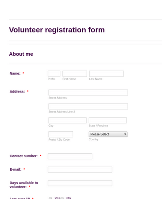 National Trust volunteer registration