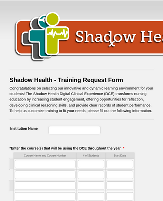 Training Request Form