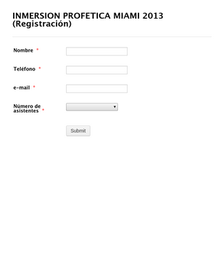 Italian Registration Form