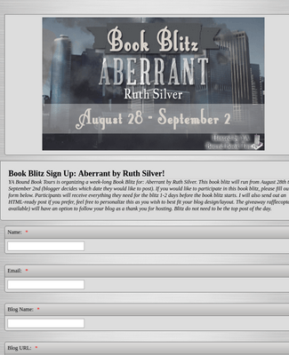 Book Blitz Event