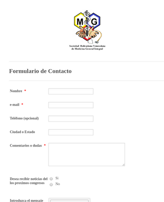 Spanish Simple Contact Form