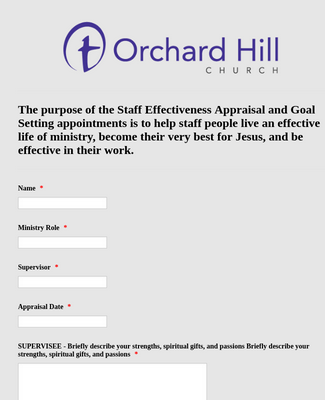 Staff Effectiveness Appraisal and Goal Settingohc