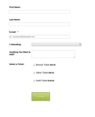 Form Generator   RSVP Form