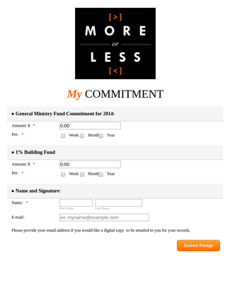 Quick And Easy Church Pledge Form Template Jotform