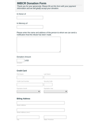 IMBCR Donation Form