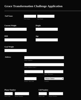 Gym Registration form