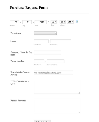 Purchase Order form 4