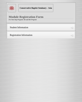 Module Registration Form