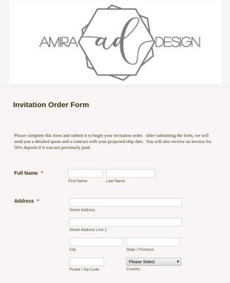 Design Wedding Invitation Order