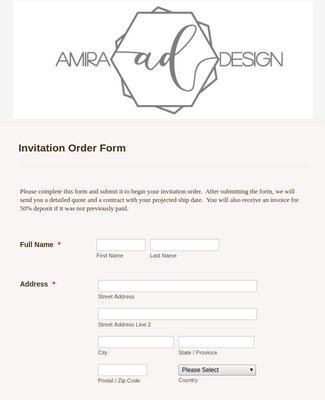 Design Wedding Invitation Order
