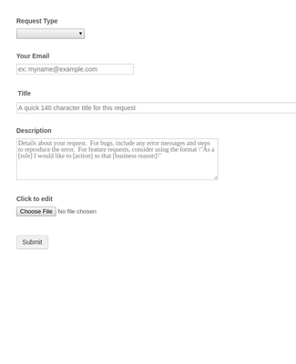 Helpdesk Request Form