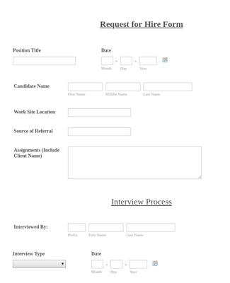 Request for Hire Form  2