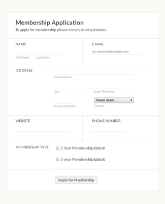 Membership Application Form 17