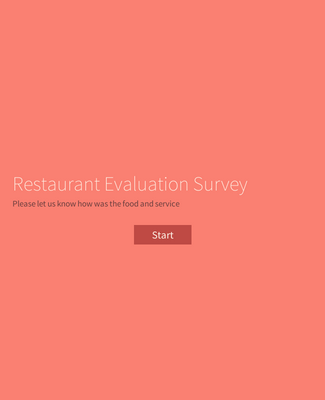 Single Page Restaurant Evaluation Survey