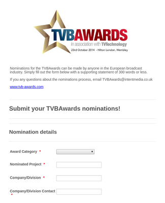 Awards Nominations Form