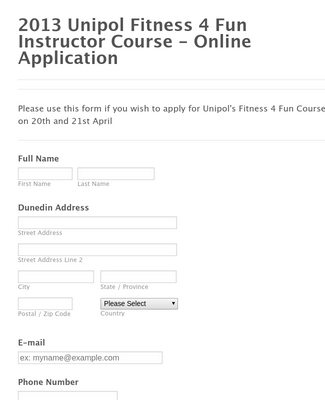 Course Application