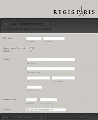 Distributor Registration Form