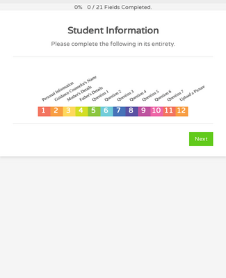 Student Information Form - White and Responsive