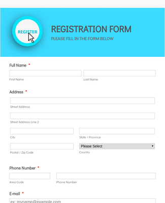 Workshop Registration Form responsive