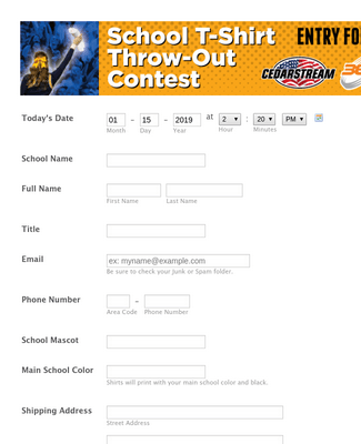 50 FREE THROW OUT T-SHIRT CONTEST