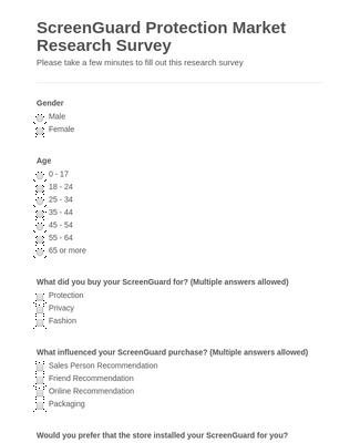 ScreenGuard Protection Market Research Survey