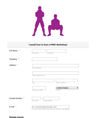 PWR! Workshop Interest Form