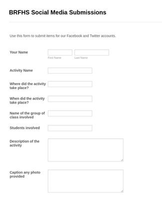 BRFHS Social Media Submissions