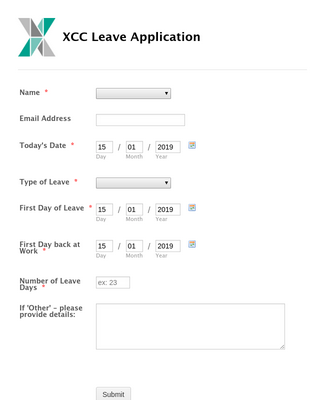XCC Leave Application