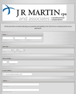 Employment Application Form 16