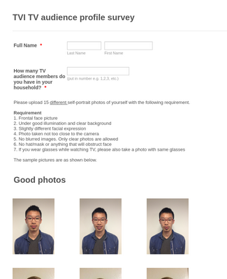Photo upload template