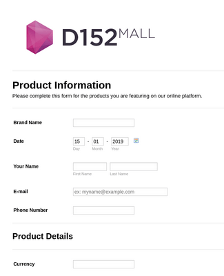 D152 Mall: Product Information