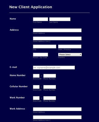New Client Form 2014
