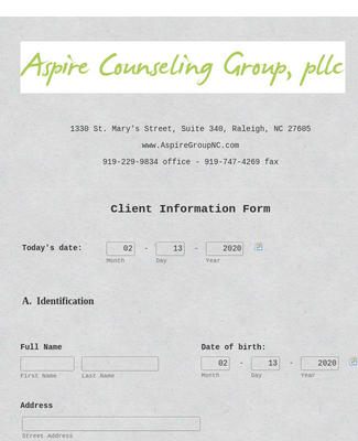 Client Information Form 2