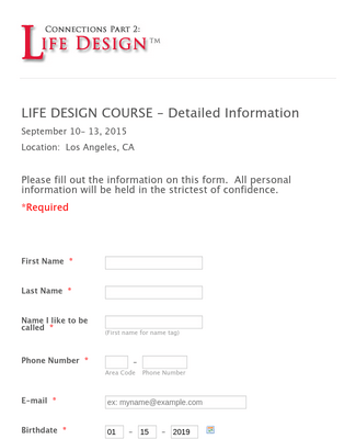 Life Design Detailed Information