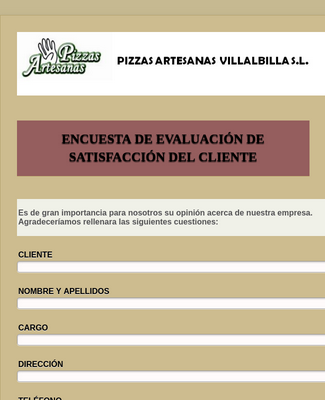 Spanish Restaurant Service Survey