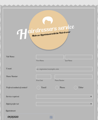 Appointment Request - Hairdressers Form 5