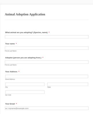 Animal Adoption Application ARP