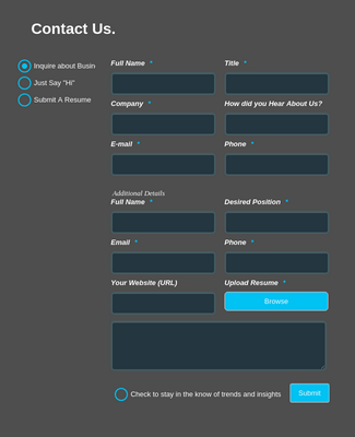 Multiple Contact Form