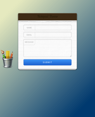 Contact Form - Notepad Theme