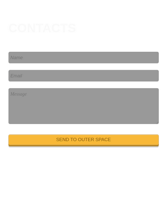 Contact Form - Space Theme